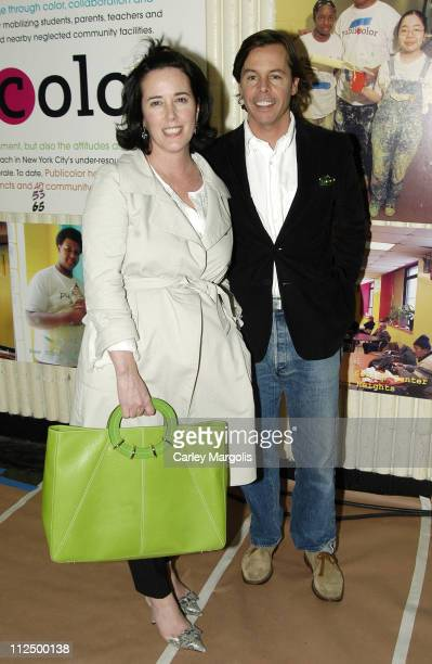 Kate Spade and Andy Spade during 5th Annual Stir, Splatter and Roll to Benefit Publicolor at Martin Luther King Jr. High School in New York City, New...