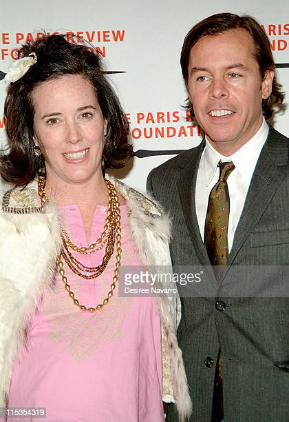 Kate Spade and Andy Spade during The Paris Review Foundation Presents Fall Revel Honoring William Styron at Cipriani in New York City New York United...