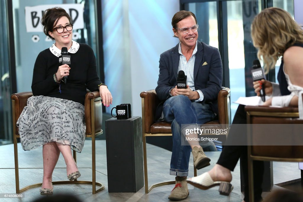 Kate Spade (L) And Andy Spade Speak On Stage At Build Series Presents Kate
