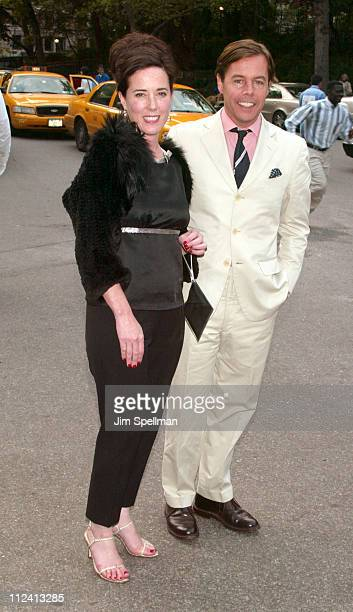 Kate Spade and husband Andy Spade during The Fresh Air Fund Salute To American Heroes at Tavern On the Green in New York City New York United States