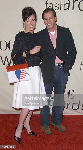 Kate Spade Andy Spade during The 2001 VH1/Vogue Fashion Awards Arrivals at The Hammerstein Ballroom in New York City New York United States