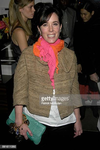 Kate Spade attends Kate Andy Spade and Punch Hutton of Vanity Fair Celebrate the Launch of Slim Aarons A PLACE IN THE SUN at Kate Spade on December 1...