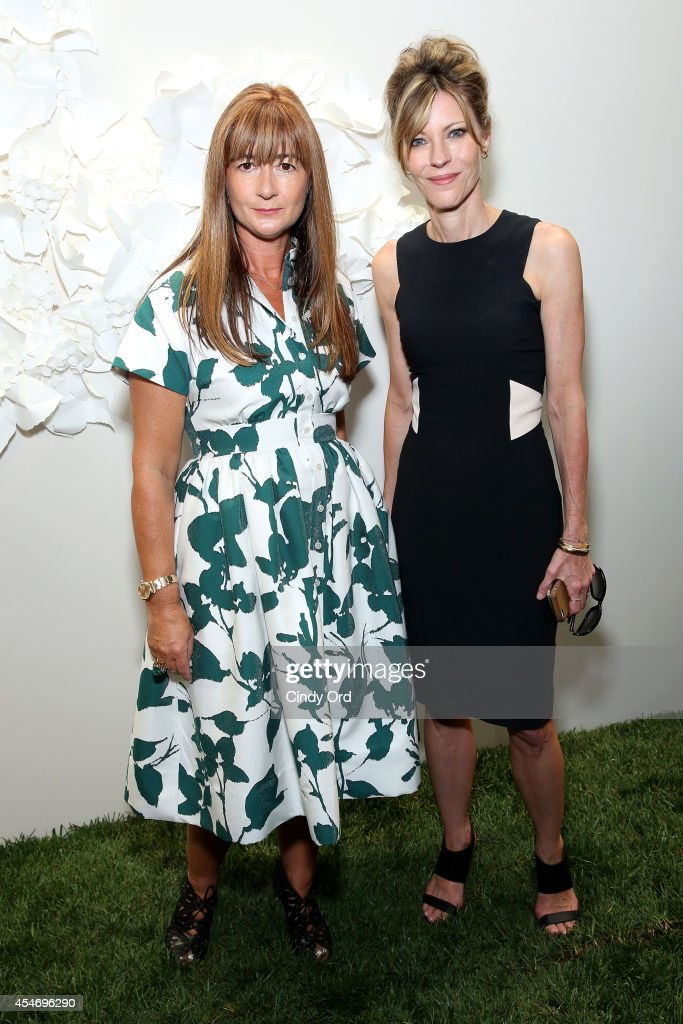 Kate Spade Chief Creative Officer Deborah Lloyd and Editor Robbie Myers at the Kate Spade New York Presentation duringMercedes-Benz Fashion Week Spring 2015 at Center 548 on September 5, 2014 in New York City.