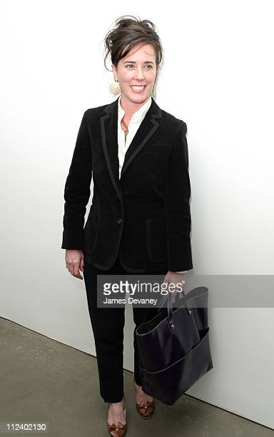 Kate Spade during Canine Cocktail Party 2003 to benefit Art for Animals at Gagosian Gallery in New York City, New York, United States.