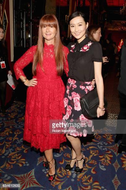 kate spade new york Chief Creative Officer Deborah Lloyd and actress Fala Chen pose at kate spade new york Spring 2017 Fashion Presentation at...