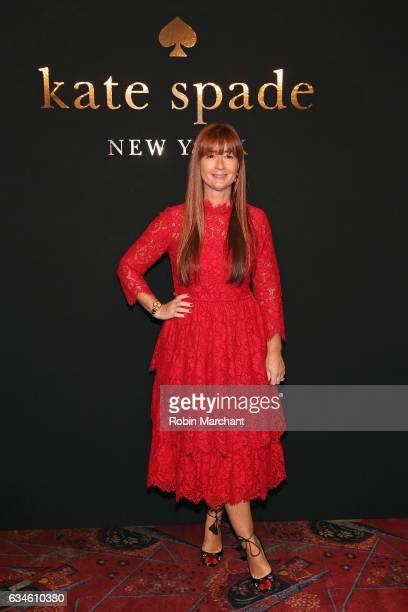 kate spade new york Chief Creative Officer Deborah Lloyd poses at kate spade new york Spring 2017 Fashion Presentation at Russian Tea Room on...