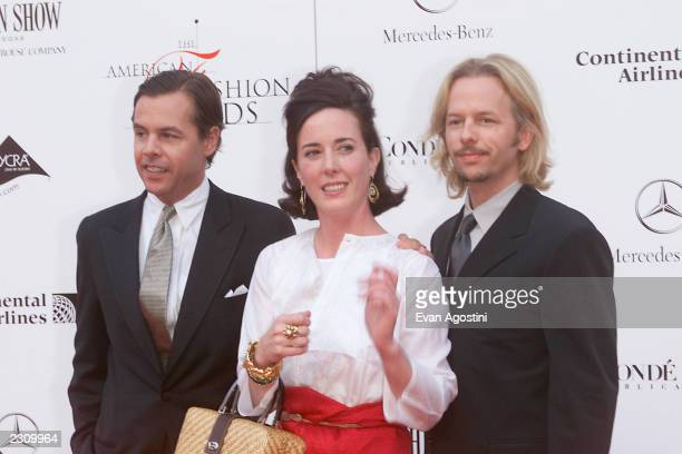 Kate Spade with husband and brotherinlaw David Spade at the 20th Annual American Fashion Awards at Avery Fisher Hall Lincoln Center in New York City...
