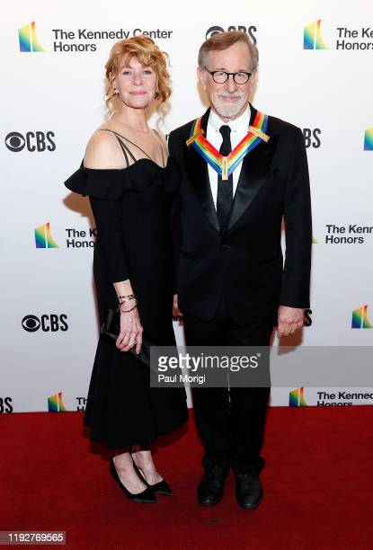 Kate Spielberg and Steven Spielberg attend the 42nd Annual Kennedy Center Honors Kennedy Center on December 08 2019 in Washington DC