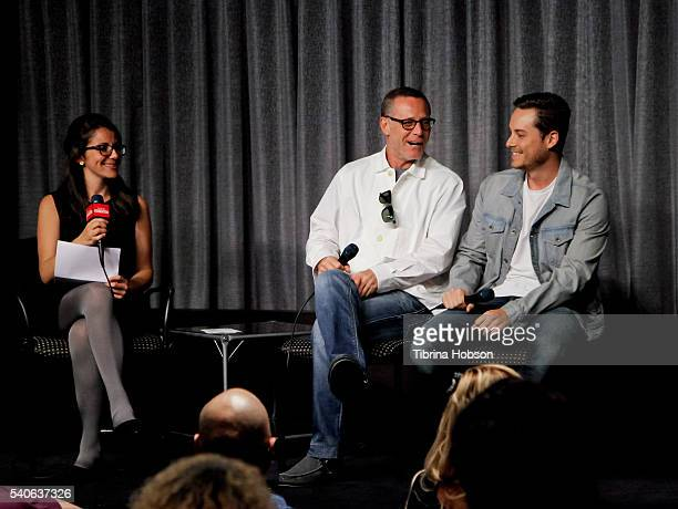 Kate Stanhope Jason Beghe and Jesse Lee Soffer attend the SAGAFTRA Foundation Conversations with 'Chicago PD' at SAGAFTRA Foundation on June 14 2016...