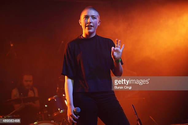 Kate Stonestreet of Joanna Gruesome performs live on stage at Scala on September 22 2015 in London England