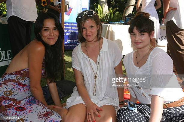 Kate Sumner, Aimee Osbourne and guest at The Casa de Milagros Picnic held at a Private Residence on June 21, 2008 in Los Angeles, California.