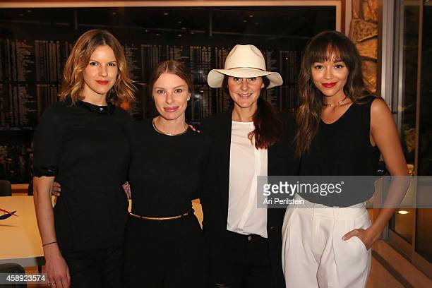 Kate Sumner Joey Tierney Nikki Pennie and Ashley Madekwe attend David Webb Presents 'The Tool Chest Collection' on November 12 2014 in Beverly Hills...