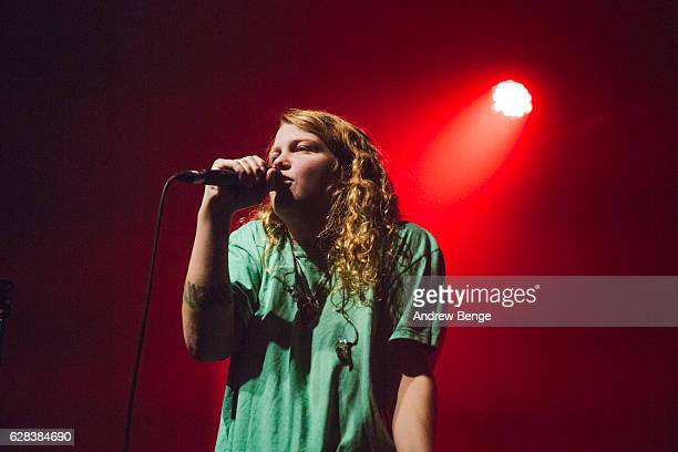 Kate Tempest performs on December 7 2016 in Manchester United Kingdom