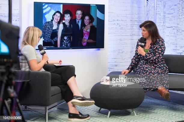 Kate Thornton and Kirstie Allsopp during a BUILD event at AOL London on September 28 2018 in London England