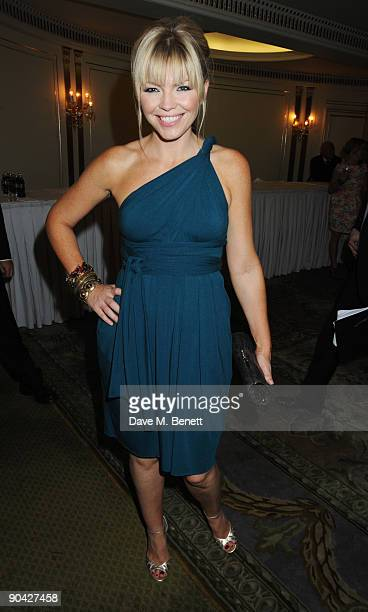 Kate Thornton attends the Champagne Reception at the TV Quick TV Choice Awards at The Dorchester on September 7 2009 in London England