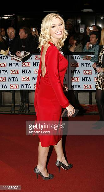 Kate Thornton during 12th Anniversary National Television Awards Arrivals at Royal Albert Hall in London Great Britain