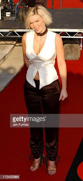 Kate Thornton during 2003 Brit Awards In Association With Mastercard Arrivals at Earls Court in London Great Britain