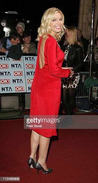 Kate Thornton during National Television Awards 2006 Red Carpet at Royal Albert Hall in London Great Britain