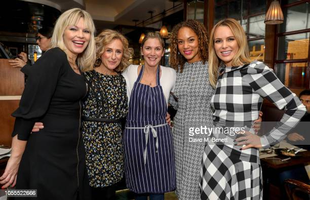 Kate Thornton Nicola Stephenson Lisa Faulkner Angela Griffin and Amanda Holden attend Lisa Faulkner's Guest Chef Supper Club at J Sheekey Atlantic...