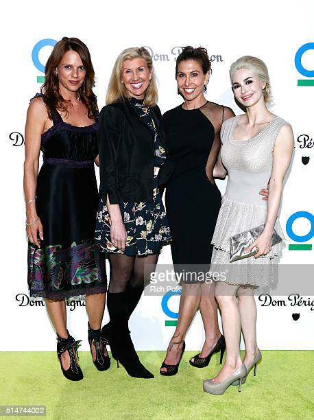 Kate Thorson Kevyn Wynn event chair Gillian Wynn and Elizabeth Tenhouten arrive at the 20th Annual Los Angeles Gala Dinner hosted by Conservation...