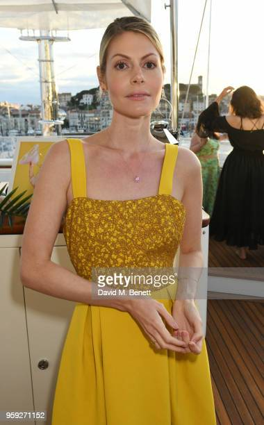 Kate Tik attends the Lark and Berry launch party on a private yacht during the 71st Cannes Film Festival on May 16 2018 in Cannes France