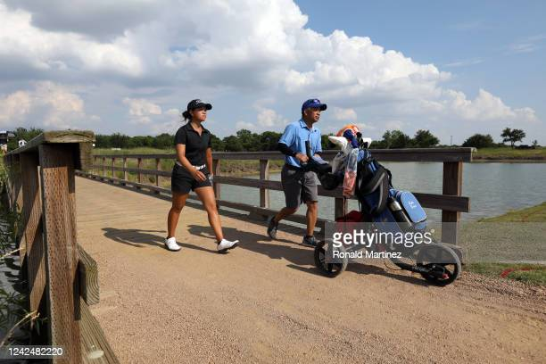 Kate Tran walks to the 18th green during the first round of the Energy Producers Inc Texas Women's Open on June 02 2020 in The Colony Texas