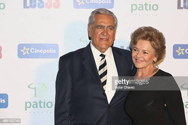 Kate Trillo Graham and Eric del Castillo attend Los 33 Mexico City premiere at Cinepolis Patio Santa Fe on August 24 2015 in Mexico City Mexico