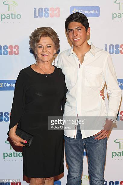 Kate Trillo Graham and guest attend Los 33 Mexico City premiere at Cinepolis Patio Santa Fe on August 24 2015 in Mexico City Mexico