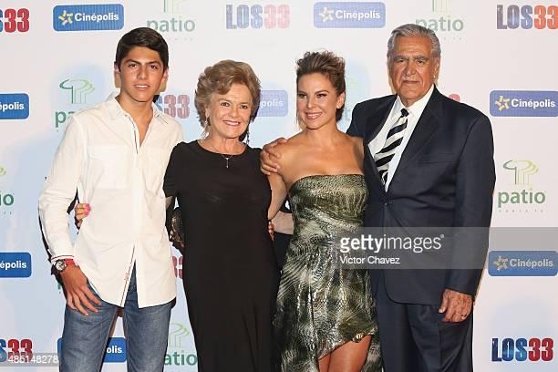 Kate Trillo Graham Kate del Castillo and Eric del Castillo attend Los 33 Mexico City premiere at Cinepolis Patio Santa Fe on August 24 2015 in Mexico...