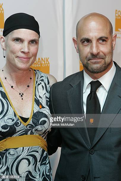 Kate Tucci and Stanley Tucci attend Food Bank For New York City 2007 CanDo Awards Dinner at Pier 60 on April 23 2007 in New York City