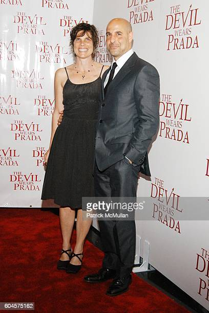 Kate Tucci and Stanley Tucci attend The Devil Wears Prada Premier at AMC Loews Lincoln Square on June 19 2006 in New York City