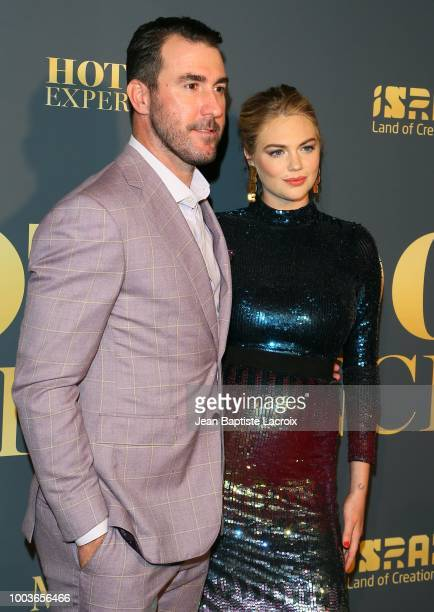 Kate Upton and Justin Verlander attend the Maxim Hot 100 Experience at Hollywood Palladium on July 21 2018 in Los Angeles California