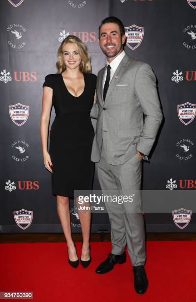 Kate Upton and Justin Verlander attend Uncork For A Cause To Benefit Wins For Warriors Foundation at Old Marsh Golf Club on March 19 2018 in Palm...