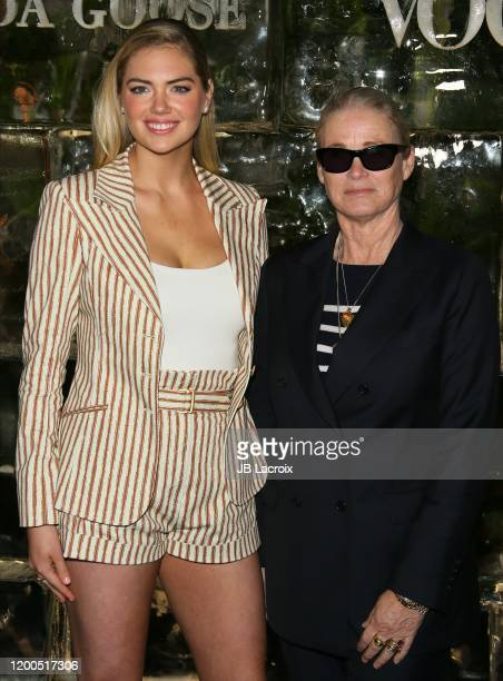 Kate Upton and Lisa Love attend Canada Goose and Vogue host Cocktails and Conversation about impact climate change has on the future of polar bears...