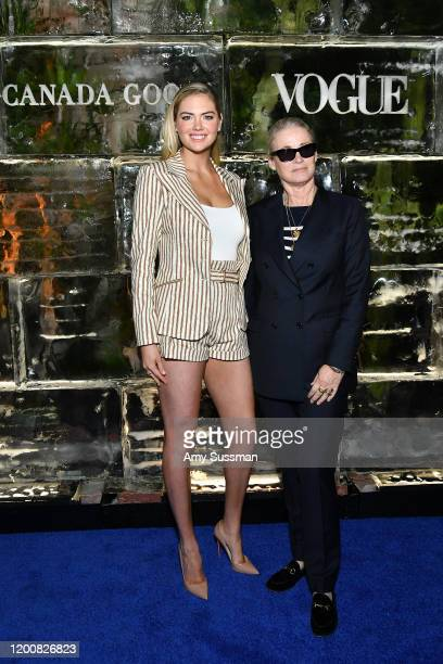 Kate Upton and Lisa Love West Coast Director of Vogue and Teen Vogue attend the Vogue Canada Goose Polar Bear International screening and panel at...