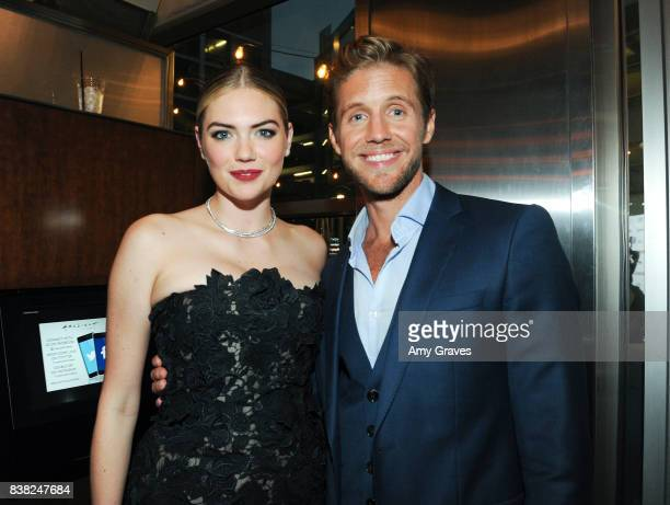 Kate Upton and Matt Barr attend The Layover film premiere hosted by Vertical Entertainment DIRECTV Foster Grant and SVEDKA on August 23 2017 in Los...