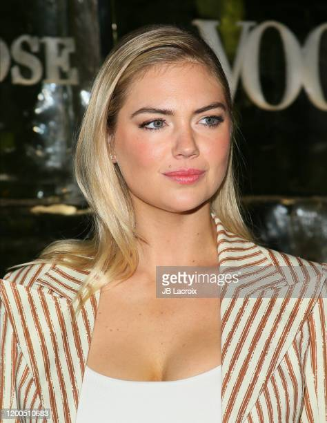 Kate Upton attends Canada Goose and Vogue host Cocktails and Conversation about impact climate change has on the future of polar bears event at...