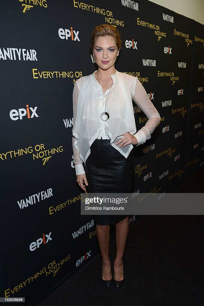 Kate Upton attends EPIX presents the Premiere screening of 'Everything or Nothing: The Untold Story of 007' at MOMA on October 3, 2012 in New York City.