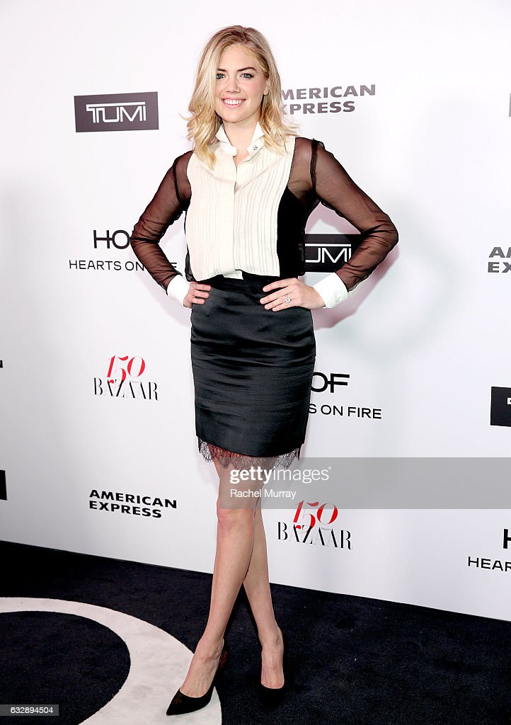 Kate Upton attends Harper's BAZAAR celebration of the 150 Most Fashionable Women presented by TUMI in partnership with American Express, La Perla, and Hearts On Fire at Sunset Tower Hotel on January 27, 2017 in West Hollywood, California.
