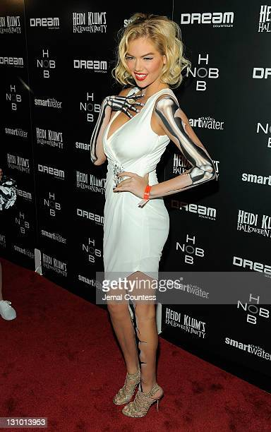 Kate Upton attends Heidi Klum's 12th annual Halloween party at the PHD Rooftop Lounge at Dream Downtown on October 31 2011 in New York City