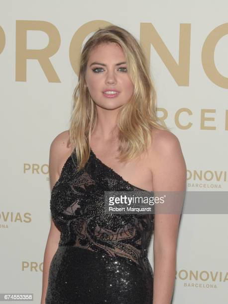Kate Upton attends Pronovias Show during Barcelona Bridal Fashion Week 2017 held at the Museu Nacional d'Art de Catalunya on April 28 2017 in...