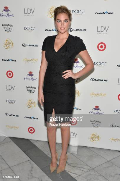Kate Upton attends Sports Illustrated Swimsuit South Beach Soiree at The Gale Hote on February 20 2014 in Miami Florida