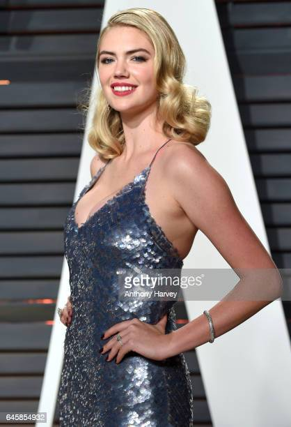 Kate Upton attends the 2017 Vanity Fair Oscar Party hosted by Graydon Carter at Wallis Annenberg Center for the Performing Arts on February 26 2017...