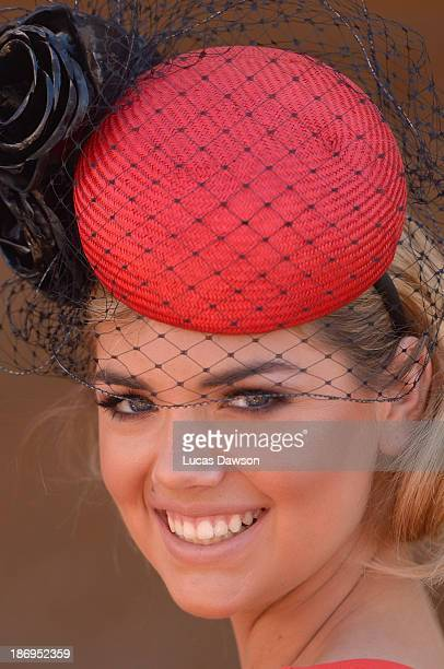 Kate Upton attends the Emirates marquee during Melbourne Cup Day at Flemington Racecourse on November 5 2013 in Melbourne Australia