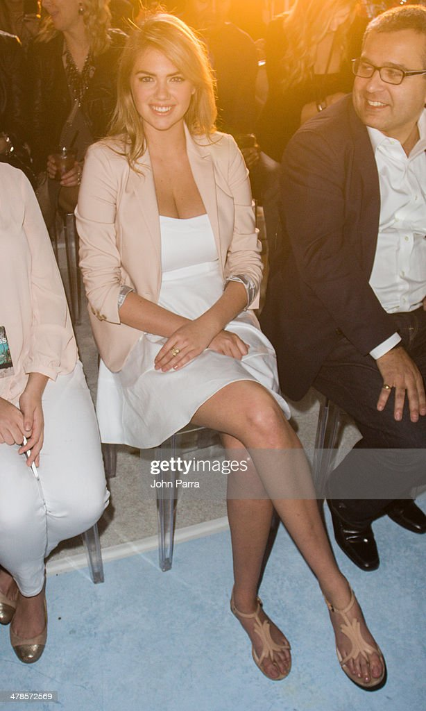 Kate Upton attends the EXPRESS South Beach Runway Show at The Raleigh Hotel on March 13, 2014 in Miami, Florida.