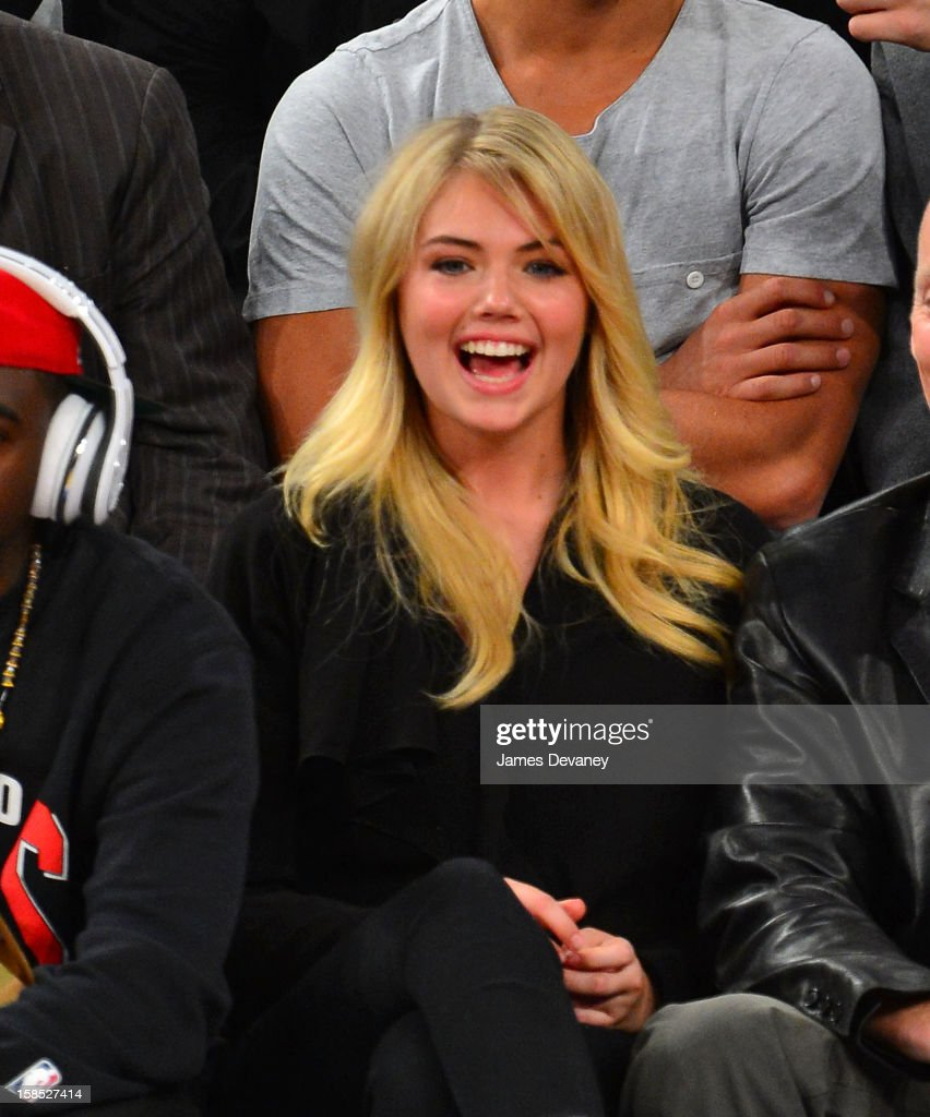 Kate Upton attends the Houston Rockets vs New York Knicks game at Madison Square Garden on December 17, 2012 in New York City.