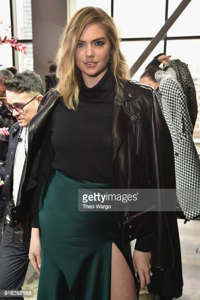Kate Upton attends the Jason Wu front row during New York Fashion Week The Shows at Gallery I at Spring Studios on February 9 2018 in New York City