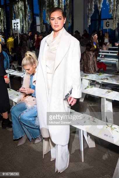Kate Upton attends the Jonathan Simkhai fashion show during New York Fashion Week at Gallery I at Spring Studios on February 10 2018 in New York City