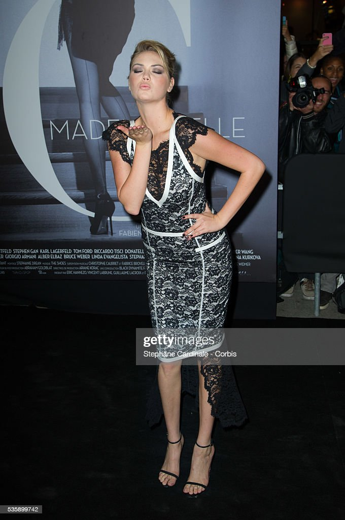 Kate Upton attends the 'Mademoiselle C' Premiere, as part of the Paris Fashion Week Womenswear Spring/Summer 2014, in Paris.