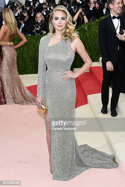 Kate Upton attends the Manus x Machina Fashion In An Age Of Technology Costume Institute Gala at Metropolitan Museum of Art on May 2 2016 in New York...
